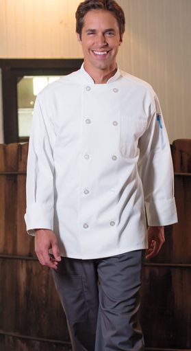 402 10 Pearl Button Chef Coat